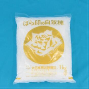 バラ印 白双糖(ざらめ) 1kg ばら印 砂糖 上白糖 製菓・製パン わたあめ 業務用