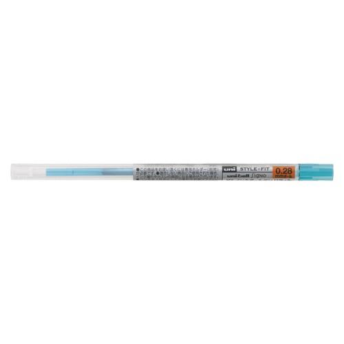 ( お徳用 30セット ) 三菱鉛筆 ボールペン替え芯/リフィル 【0.28mm】 ゲルインク UMR10928.48 スカイブルー