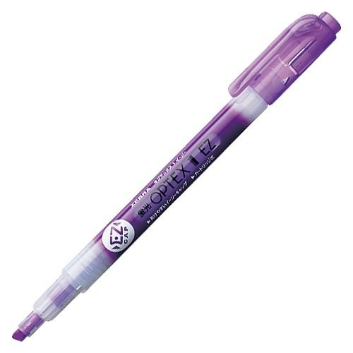 ( お徳用 300セット ) ZEBRA ゼブラ 蛍光ペン 蛍光オプテックス1 EZ 【紫】 つめ替え式 WKS11-PU