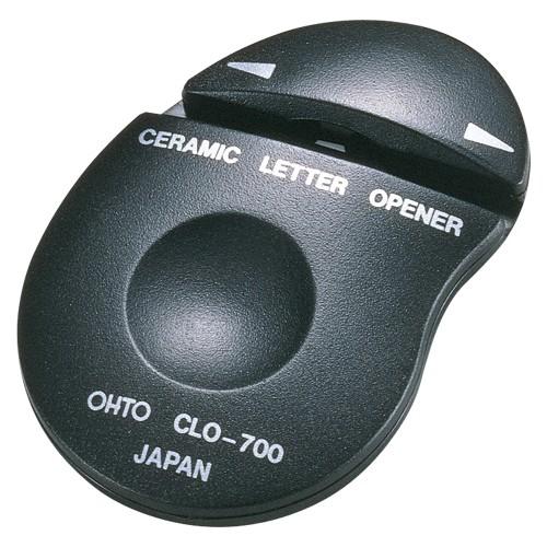 オート セラミックレターオープナー 両刃タイプ 黒 CLO700クロ 1台 ×5セット