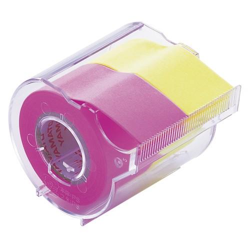 ヤマト メモック ロールテープ カッター付 25mm幅 ローズ レモン NORK-25CH-6A 1個 ×15セット