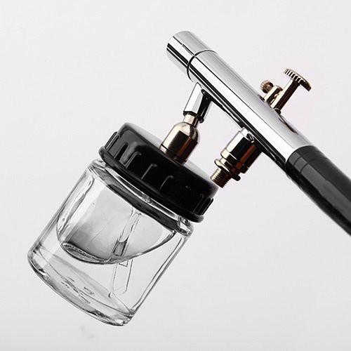 【三方良し】ガラスカップタイプエアーブラシ ダブルアクショントリガー ノズル0.3mm