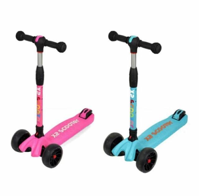 2カラー バランスバイク 3輪キッズスクーター LED 光るウィール キックスケータ キックボード 3輪 キックスケーター 子供用 キッズ