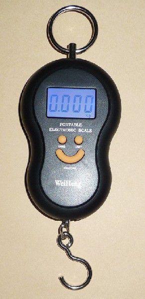 光吊りはかり5gの単位で10kgまで計量温度も測定デジタル吊はかりスケール秤