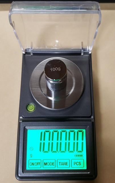 限定1台DC電源使用日本語取説付天秤0.001gで100gスケールはかりデジタル秤最小単位0.001gが計れるタッチパネ電子てんびんデジタルはかり