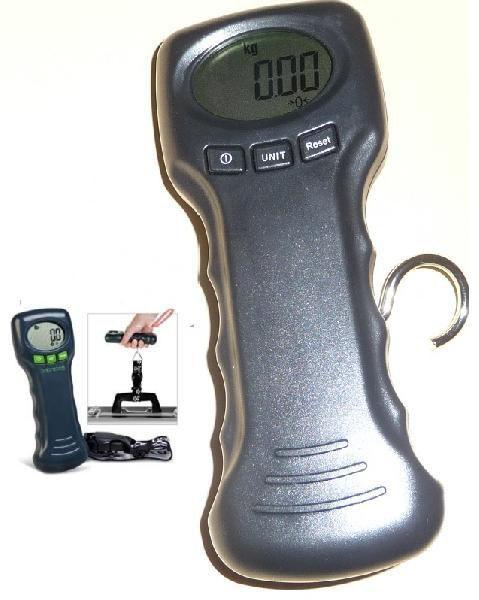 フックは布です 吊りはかり10gの単位で45kgまで計量デジタル吊はかりスケール秤温度表示あり 旅行も業務も使用可能