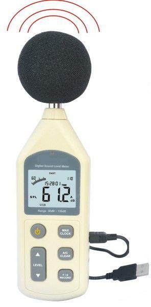 高性能低価格データロガー騒音計リアルタイム測定結果 パソコンへ PCソフト付デジタル騒音計サウンドメーター新製品CE認証*