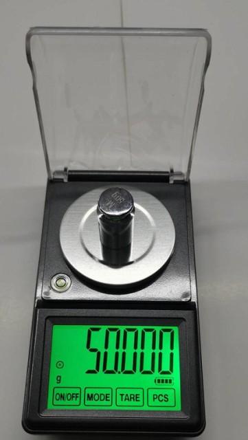 DC電源使用日本語取説付精密天秤0.001gで50gスケールはかりデジタル秤最小単位0.001gが計れるタッチパネ電子てんびんデジタルはかりデジ