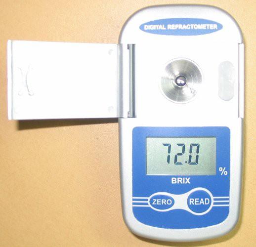 デジタルポケット型屈折計新商品保証付屈折計糖度計ワイドダブルレンジ