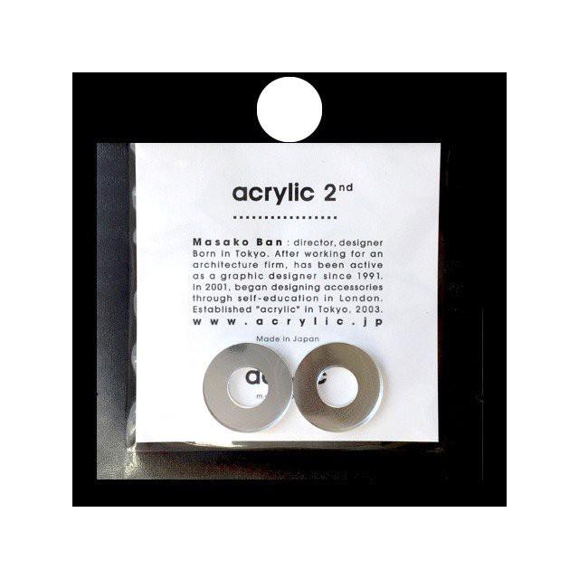 acrylic アクリリック gum earring ガムイヤリングパーツ サークル小 ミラー 痛くないゴムイヤリング 坂雅子 masako ban ブランド 日本製