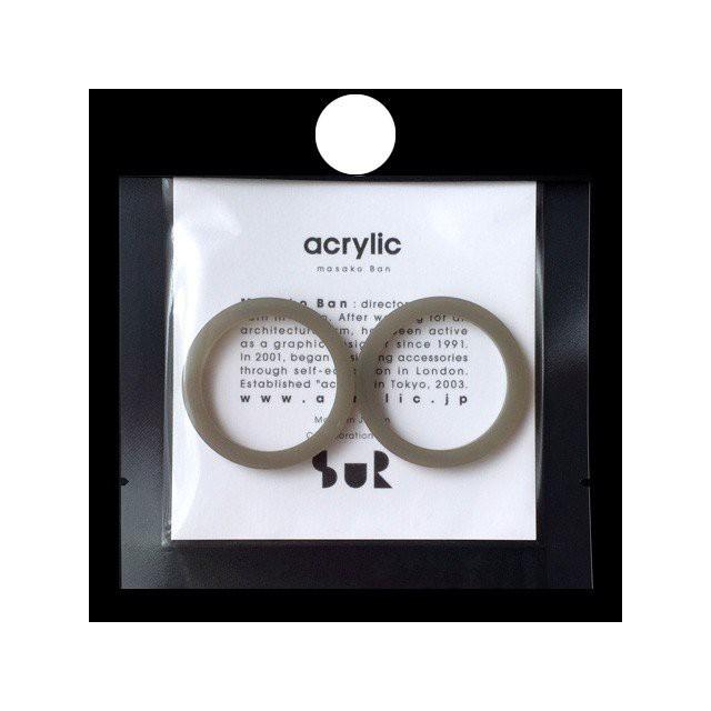 acrylic アクリリック gum earring ガムイヤリングパーツ Sur サー TSUGI ツギ オリーブ 痛くないイヤリング 坂雅子 masako ban ブランド