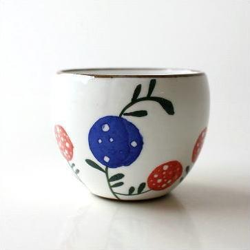 煎茶碗 湯のみ 陶器 おしゃれ 湯呑み 湯飲み 粉引き 来客 お湯のみ かわいい カップ 日本製 有田焼 粉引丸煎茶 花の実