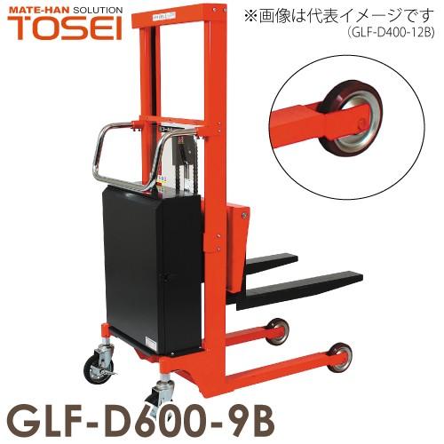 東正車輌 油圧・電動式パワーリフター ビック車輪 600kg GLF-D600-9B マスト式 ゴールドリフター