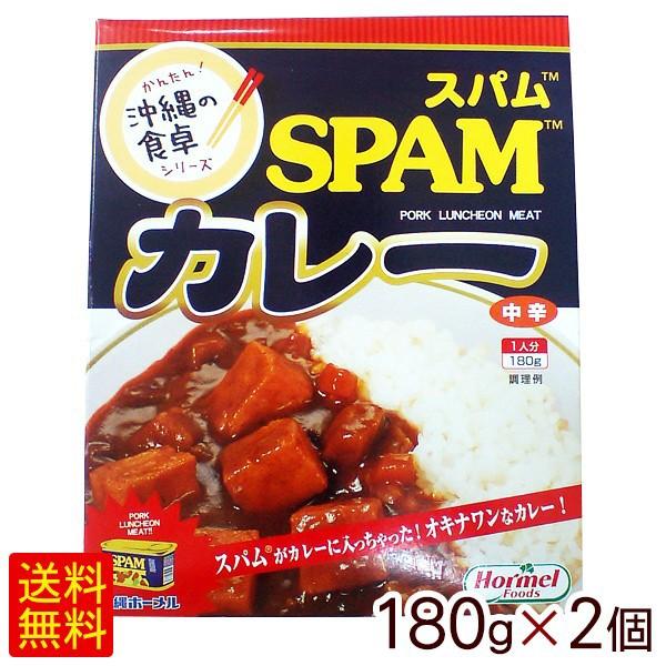SPAMスパムカレー中辛 180g×2個 【M便】
