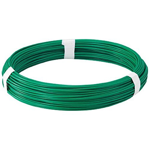 TRUSCO(トラスコ) カラー針金 ビニール被覆タイプ グリーン 線径2.0mm TCW-20GN