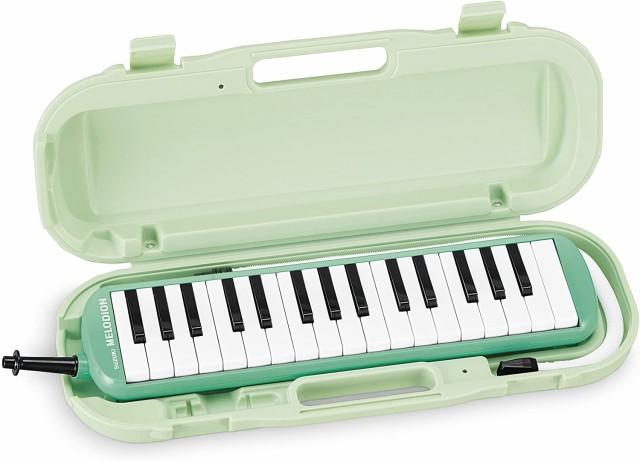 SUZUKI スズキ 鍵盤ハーモニカ メロディオン アルト パステルグリーン MXA-32G