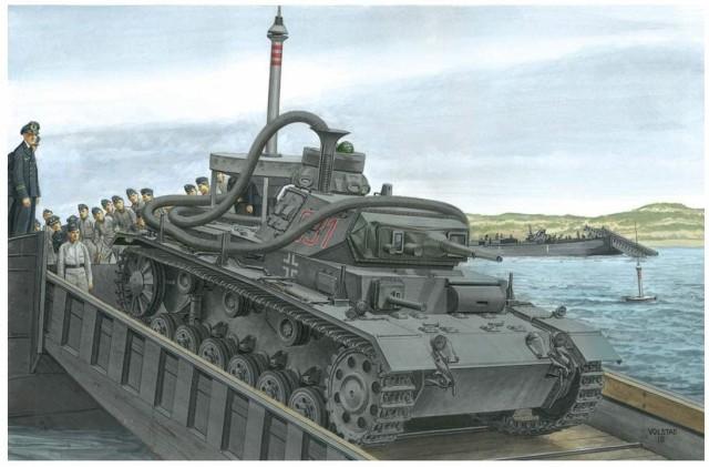 ドラゴン 1/35 第二次世界大戦 ドイツ軍 3号潜水戦車F型 アシカ作戦 プラモデル DR6877