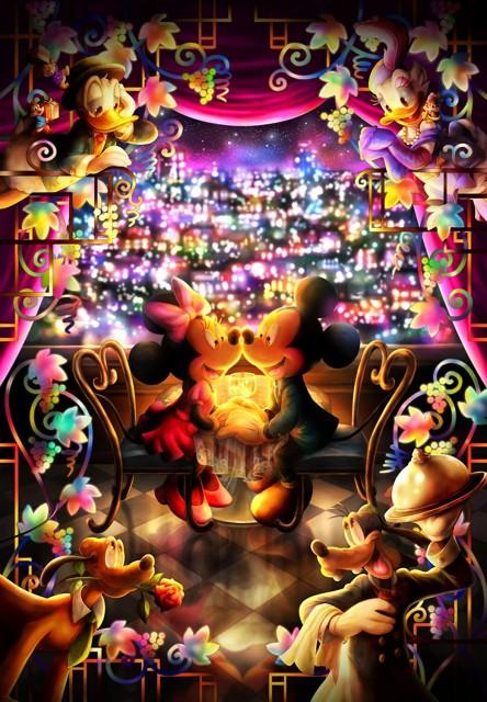 500ピース ジグソーパズル ディズニー とくべつな時間(ミッキー ミニー) ぎゅっとシリーズ 【ピュアホワイト】