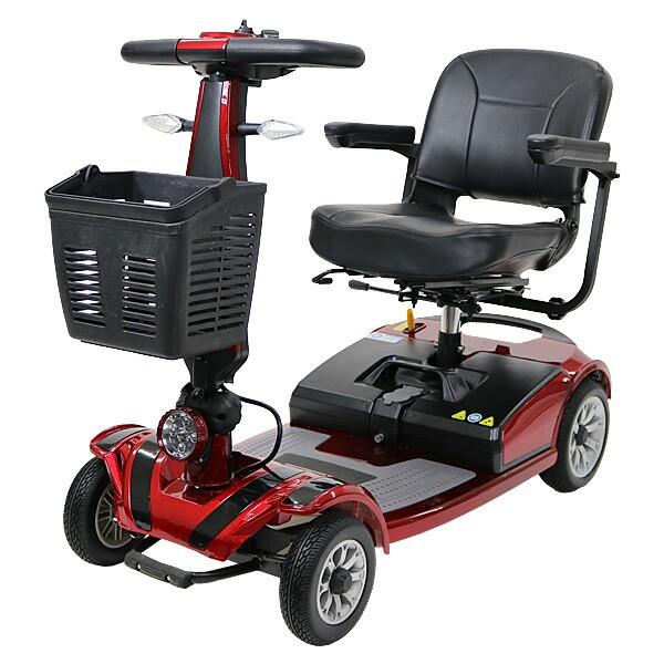 送料無料 新品 電動シニアカート 赤 シルバーカー 車椅子 PSE適合 TAISコード取得済 運転免許不要 折りたたみ 軽量 コンパクト 電動カー