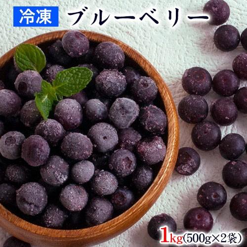 ブルーベリー 冷凍 九州産 1kg (500g×2袋) 送料無料 サイズ不選別 フルーツ 果物 取り寄せ 通販 7-14営業日以内に出荷予定(土日祝除く)