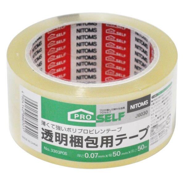 透明梱包用テープ 5cm×50m J6030