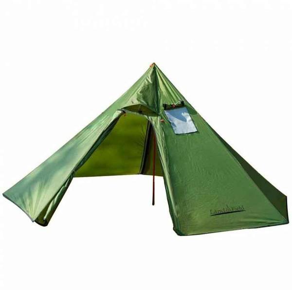 Sunruck 煙突穴付きワンポールテント グリーン LF-OT010-GR テント アウトドア キャンプ ワンポールテント ティピーテント ティピー型テ