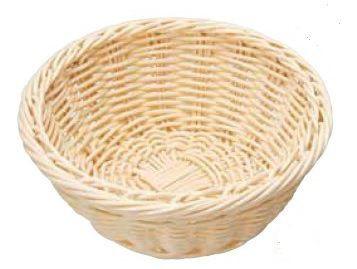 製菓用品 樹脂バスケット 丸型 白 24cm 6-1025-1703 7-1075-1703