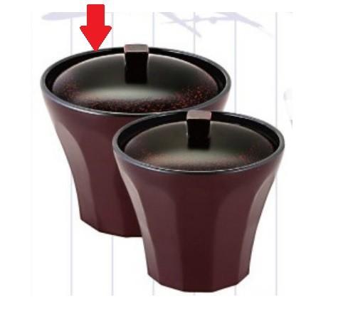 お椀 荒彫小町カップ 漆刻溜内黒 3.1寸 耐熱ABS樹脂 食器洗浄機対応 f6-201-1