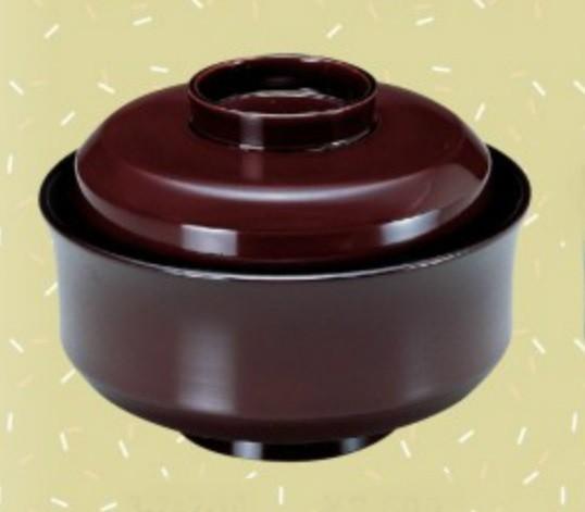 お椀 蓋付き 4.5寸 天竜寺椀 溜内黒 耐熱ABS樹脂 食器洗浄機対応 f6-246-6
