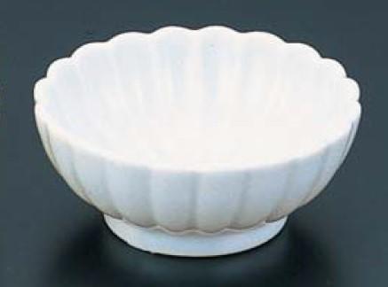 珍味皿 和食器 小付 小皿 小鉢 豆皿 ABS 菊型珍味 (小)白 Φ67 f6-697-27
