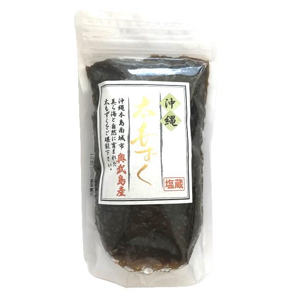 沖縄 お土産 もずく 美ら海 塩蔵 塩もずく 奥武島産 太もずく 200g