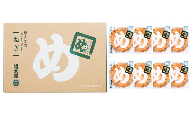 せんべい お取り寄せ おみやげ 福太郎 めんべいねぎ 2枚×8袋