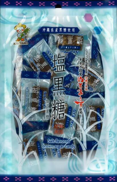 マグネシウムは一般の食塩の200倍!沖縄の海塩からできたお塩『ぬちまーす』を使用した塩黒糖!個包装の110g!