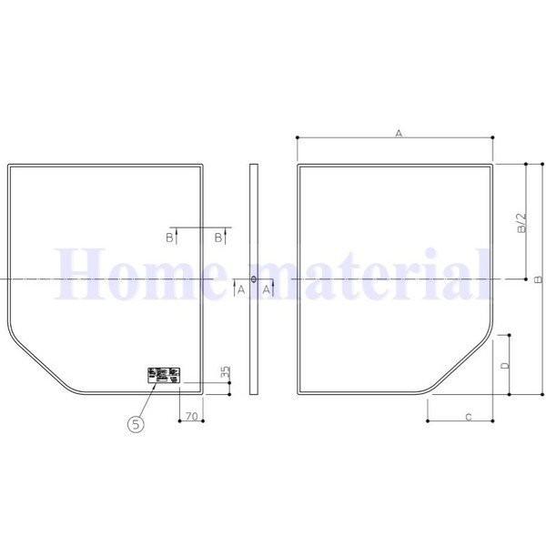 〇お風呂のふた TOTO 風呂ふた 組み合わせ式 組みふた 断熱風呂蓋 AFKK84129W1 695×1280