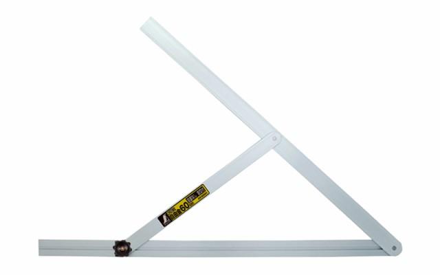 シンワ測定 アルミ自由金 60cm 目盛なし 筋交付 62541