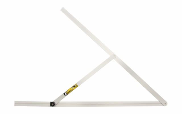シンワ測定 アルミ自由金 90cm 目盛なし 筋交付 62542