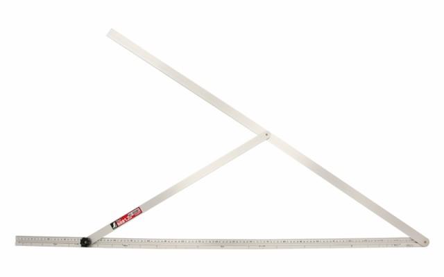 シンワ測定 アルミ自由金 1.2m 勾配目盛 筋交付 62573