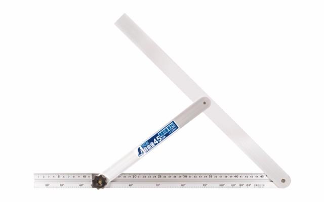 シンワ測定 アルミ自由金 45cm 角度目盛 筋交付 62661