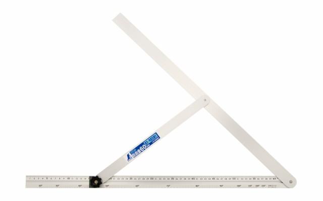 シンワ測定 アルミ自由金 60cm 角度目盛 筋交付 62662