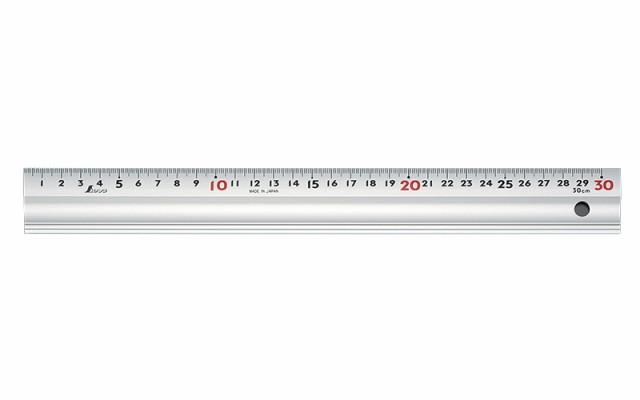 シンワ測定 アルミ直尺 スーパーアル助 30cm コルク板付属 65340