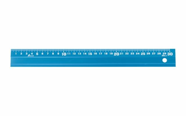 シンワ測定 アルミ直尺 アル助 30cm シャイニングブルー 65415