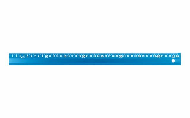 シンワ測定 アルミ直尺 アル助 45cm シャイニングブルー 65423