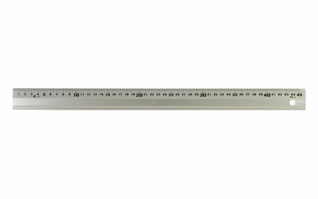 シンワ測定 アルミ直尺 アル助 45cm シャンパンゴールド 65425