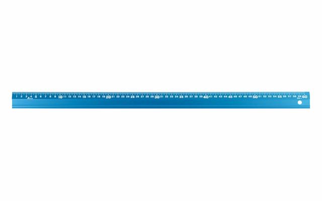 シンワ測定 アルミ直尺 アル助 60cm シャイニングブルー 65434