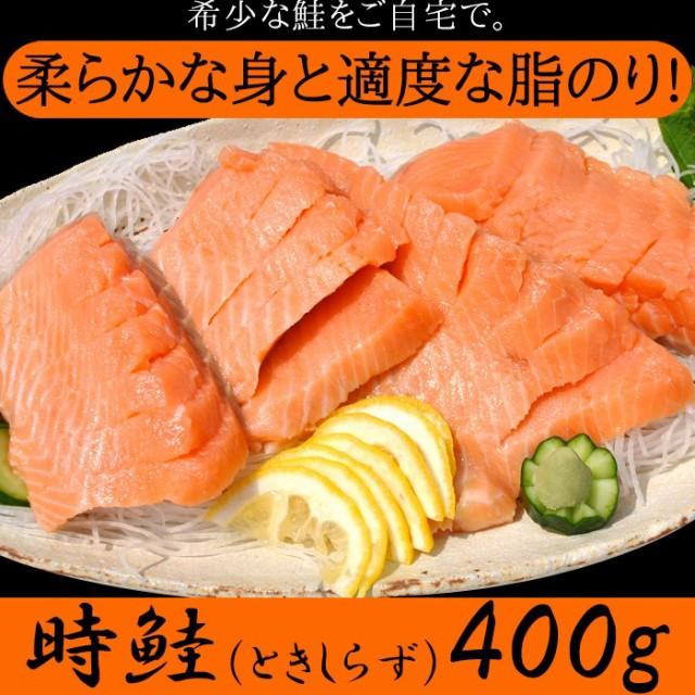 ギフト対応可商品シール熨斗名入れ不可 希少な鮭をご自宅で 時鮭 ときしらず 刺身400g