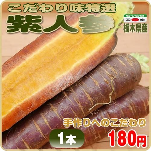 美味しさだけを追及したこだわり味特選 紫人参 1本 栃木県産