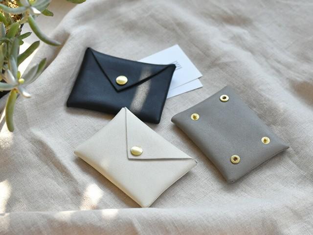 財布 カードケース スナップユニット財布 スリム 薄型 名刺入れ 名刺ケース 定期入れ 定期ケース 革 サンク CINQ シンプル イヤフォンケ
