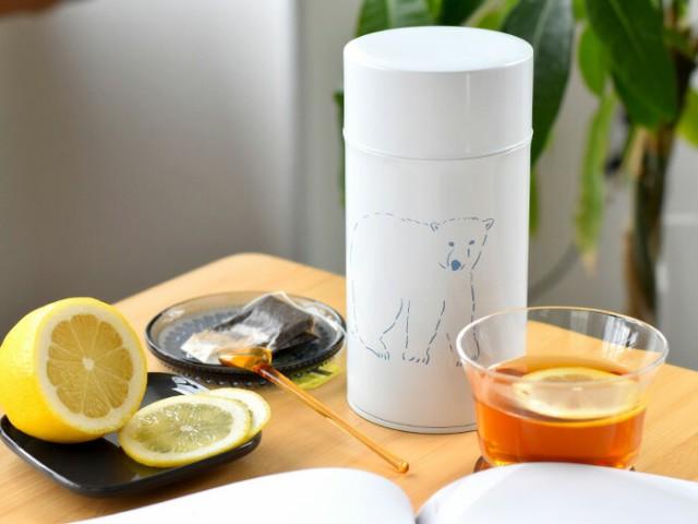 松尾ミユキ BEAR ベアー クマ くま 熊 コーヒー缶 スリムLサイズ コーヒー コーヒー豆 紅茶缶 キャニスター 【ギフト】