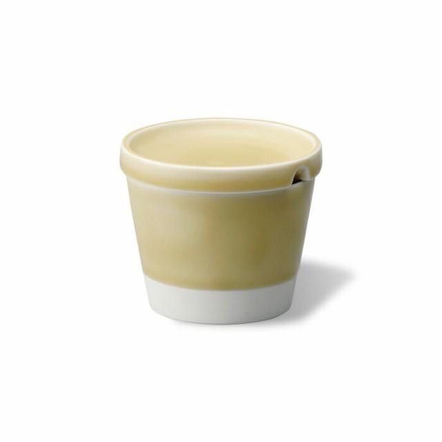 波佐見焼 sugarpot 黄磁釉 蕎麦猪口 コップ シュガーポット 湯呑 砂糖入れ 薬味皿 フリーカップ 小皿 はさみ焼 磁器 エッセンス ギフト