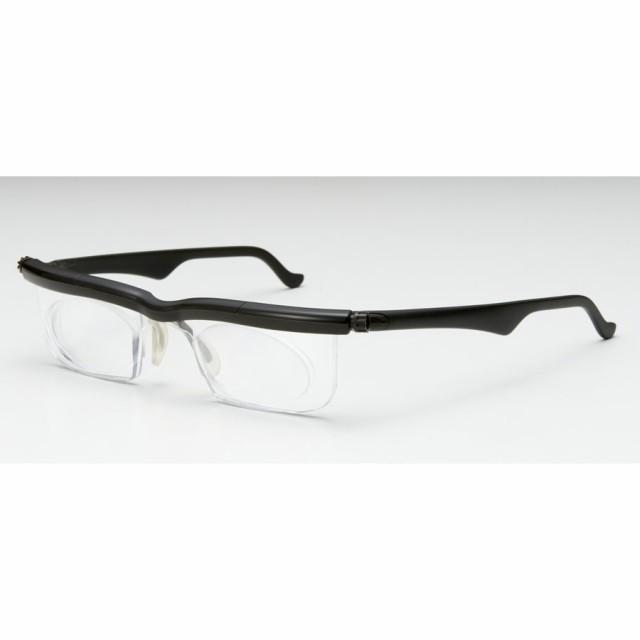 ドゥーライフワン ブラック 老眼鏡 シニアグラス おしゃれ 拡大鏡 度数 度数調整 眼鏡 メガネ ルーペ 近視 遠視 老眼 シニア アドレンズ